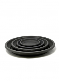 Deroma Anthracite Black Saucers