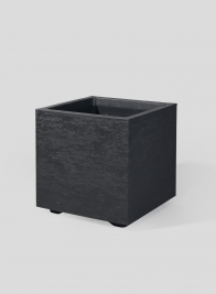 10in High Tribeca Charcoal Gravity Cube Planter