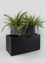 23in Tribeca Charcoal Gravity Rectangular Planter
