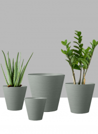 6 1/4in - 12in Hyde Park Grey Cone Pots