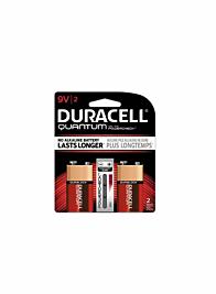 Quantum 9V Duracell Battery, Pack of 2