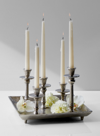 candlestick tray table centerpiece