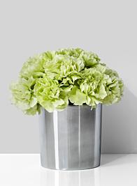 4 x 4in Polished Aluminum Cylinder Vase