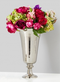 nickel pedestal wedding centerpiece vase