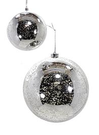 120mm Silver Mercury Glass Plastic Ornament Ball