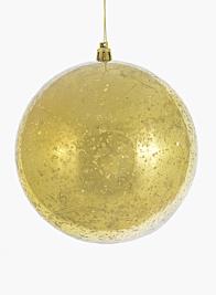 4 3/4in (120mm) Gold Mercury Glass Plastic Ornament Ball