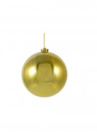 150mm Shiny Gold Plastic Ornament Ball