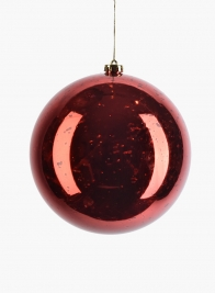 200mm Red Mercury Glass Plastic Ornament Ball