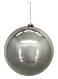 200mm Shiny Platinum Plastic Ornament Ball