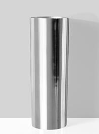 polished aluminum modern vase