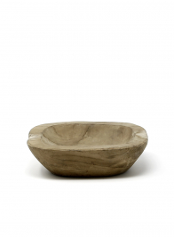 natural wood teak bowl