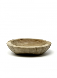7in Oval Teak Bowl