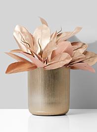 7in x 8in Gold Vase