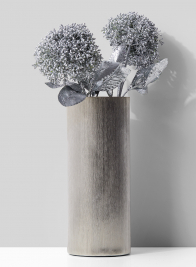 4 1/2 in x 11in Nickel Cylinder Vase