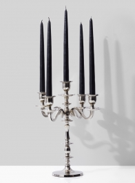 Nickel Candelabra, 14in H