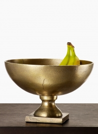 10in Antique Brass Footed Bowl