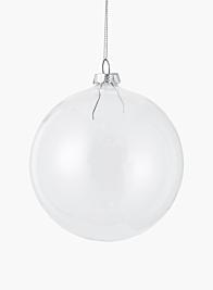 clear glass ball christmas ornament