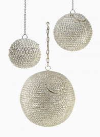 Hanging Nickel & Crystal Balls
