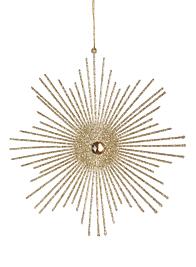 Champagne Gold Glitter Starbust Ornament