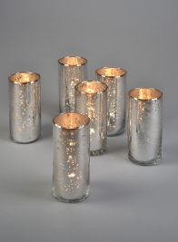 mercury glass bud vases