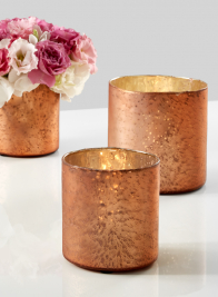 4 x 4in Matte Copper Glass Vase