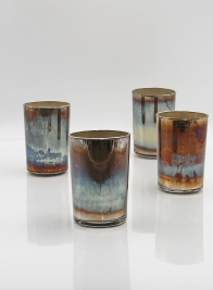 oxidized ombre mini glass vase cylinders
