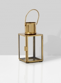 5 1/4in Gold Square Lantern