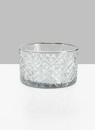 5 3/4in Dia Diamond Cut Glass Bowl