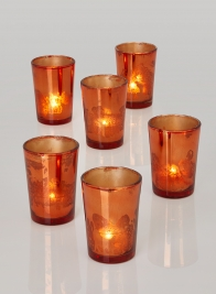 Antique Copper Tapered Votive Holder, Set of 6