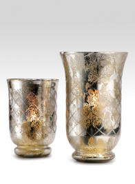 Antiqued Silver Etched Hurricanes