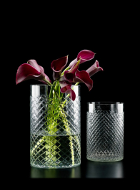 6in & 8in High Cut Glass Squares Cylinders
