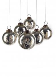 silver mercury christmas ornament ball