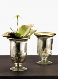 5 1/2in H Vintage Mercury Glass Vase