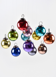 2in Multicolor Glass Ball Ornament, Set of 12