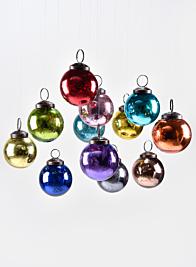 2in Multicolor Glass Ball Ornament, Set of 12