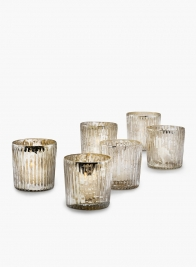 ribbed mercury glass tealight holders