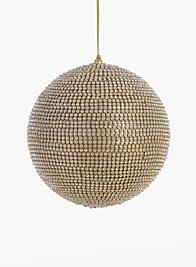 5in Gold Rhinestone Ball Ornament