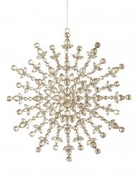 rhinestone snowflake ornament
