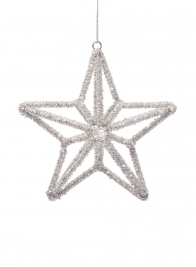 bead star christmas ornament
