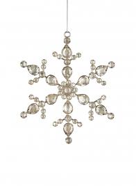 rhinestone snowflake christmas ornament