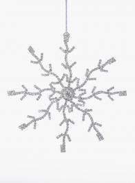 5in Silver Rhinestone Snowflake