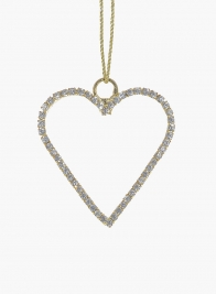 2in Gold Rhinestone Heart