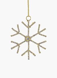 3in Gold Rhinestone Snowflake