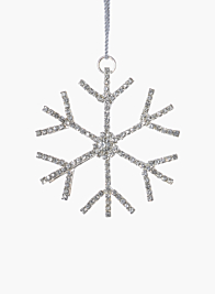 3in Silver Rhinestone Snowflake