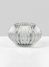 Pleated Glass Bulb Votive Holder