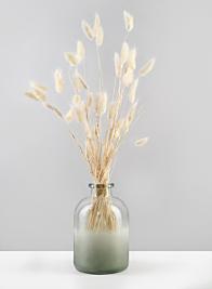 6 1/2in H  Frost Sea Glass Bottle Vase