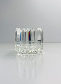 Small Pyramid Crystal Candleholder