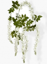 78in White Wisteria Vine Hanging Garland