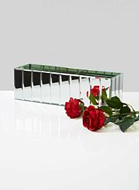 mirror strips modern vase for wedding centerpieces