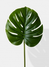 real touch artificial monstera leaf